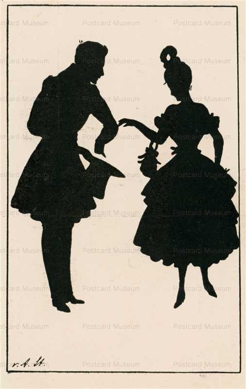 sib032-Couple in Love Silhouette