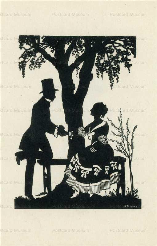 sib037-E Trebicky Romantic Couple Silhouette