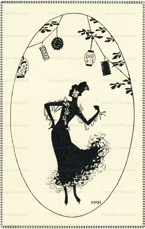 sib225-Silhouette Woman under Lantern MKH