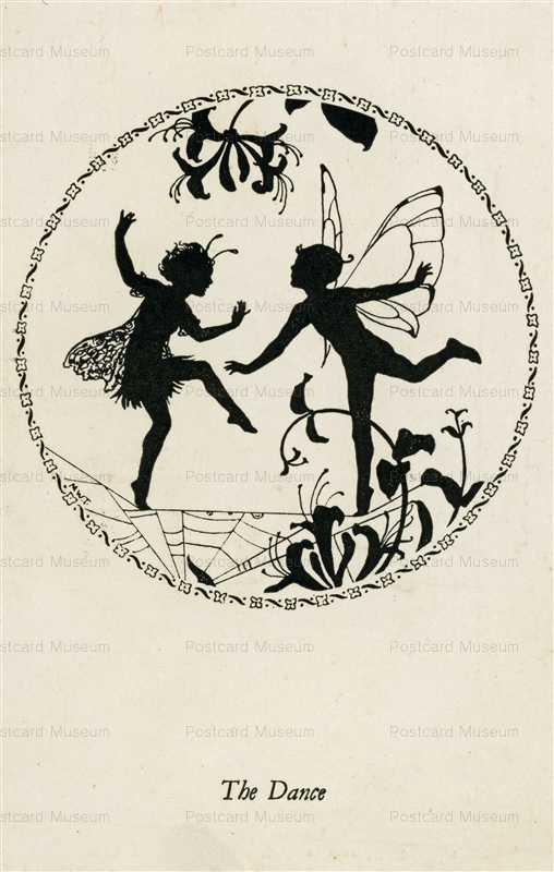 sib525-Margaret Winifred Tarrant Elfin Series Silhouette the Dance