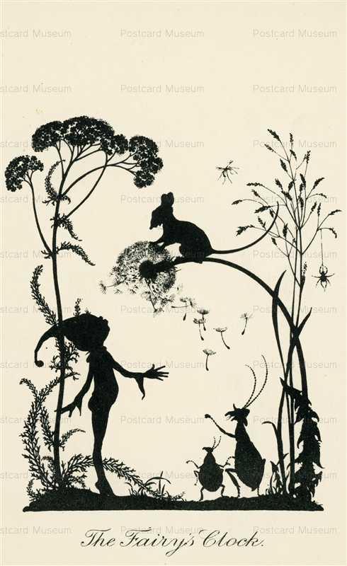 sib550-The Fairy's Clock Silhouette Series