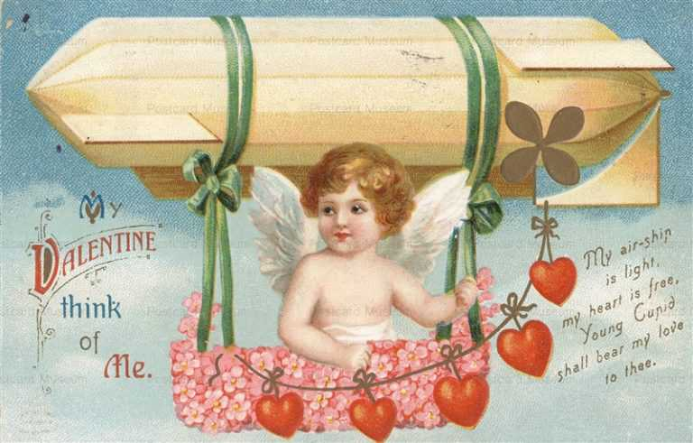 v230-Valentine Cupid with Airship