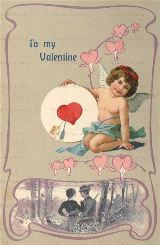 v239-Valentine Art Nouveau Romance Cupid