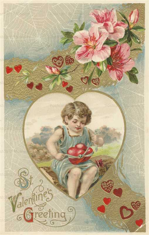 v245-Valentine Cupid Ties Heart Spider Webs