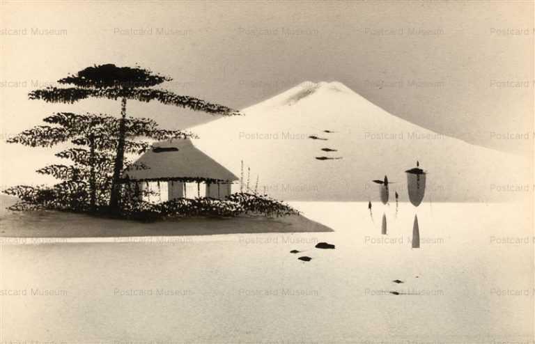 wk034-富士 黒漆絵