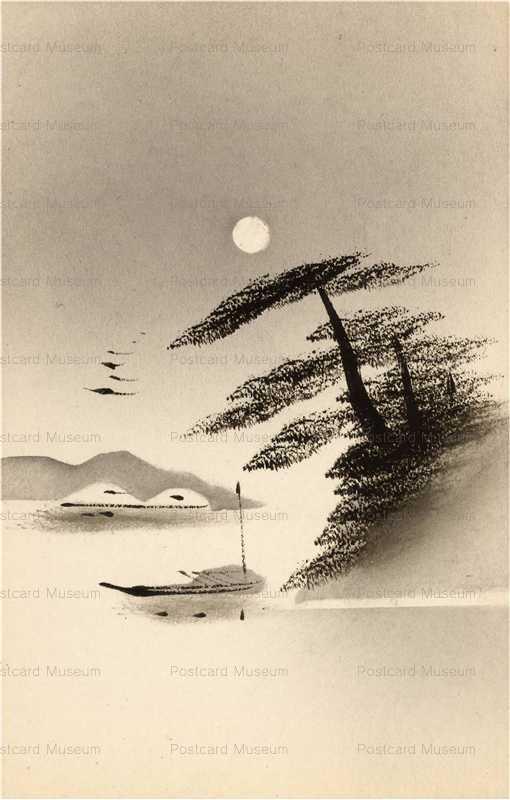 wk140-海辺 松 月