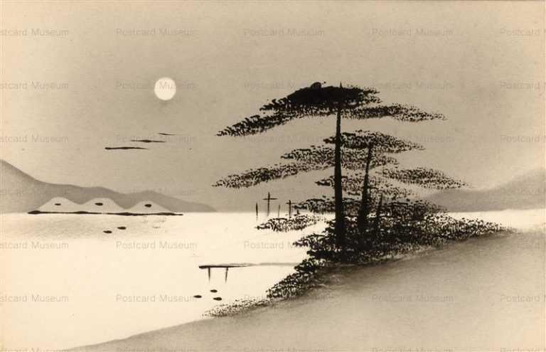 wk144-海辺 松 月