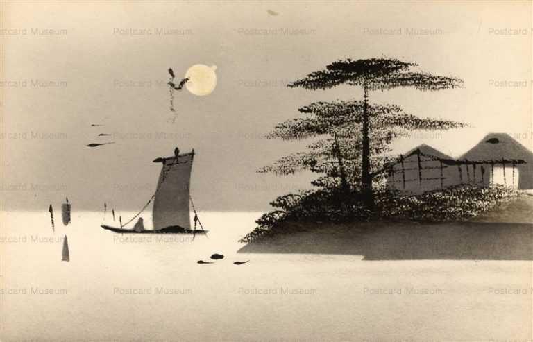 wk146-海辺 松 月