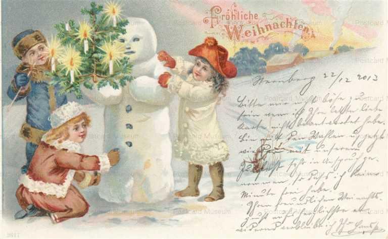 xm055-Christmas Snowman Children