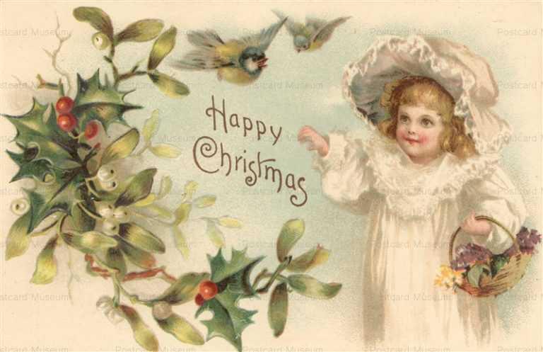 xm057-Merry Christmas GirlsHappy Christmas Cute Girl