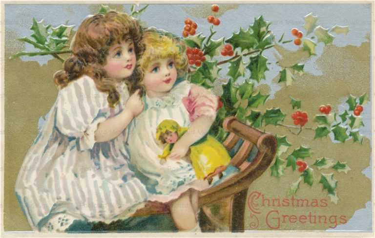 xm100-Merry Christmas Girls Baby Doll