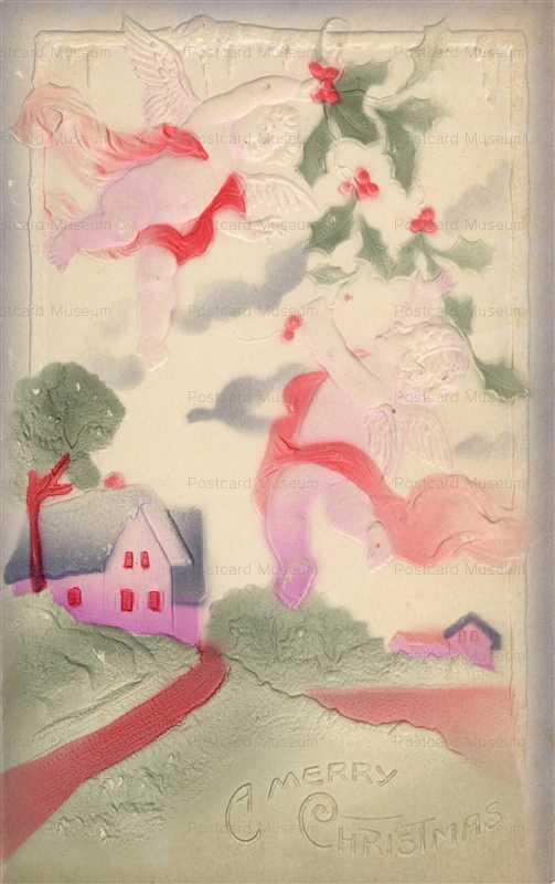 xm190-Merry X'mas Cupid Embossed