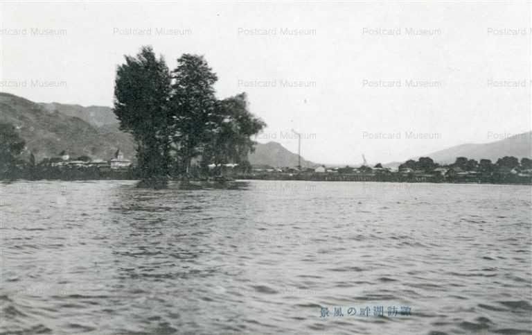 yt1080-Lake Suwa Nagano 諏訪湖畔の風景 長野