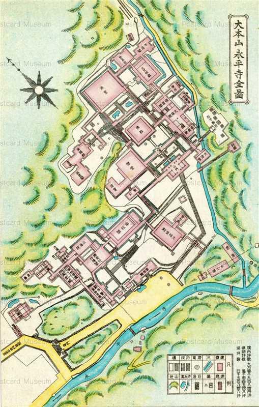 hf1165-Daihonzan Eiheiji Map 大本山永平寺全図
