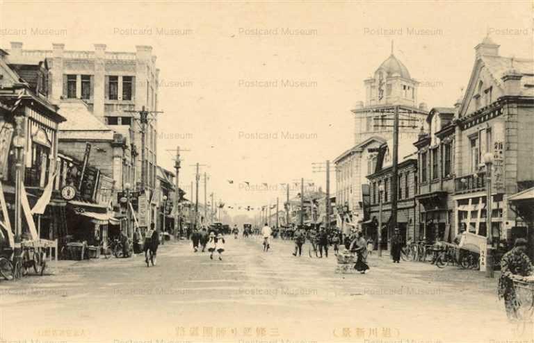 ha100-Sanjou Asahikawa 三條通り師団道路 旭川