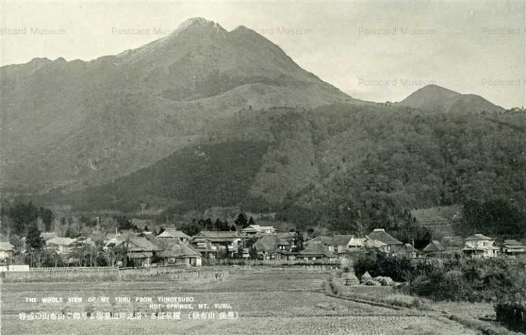 oi1150-Panorama Yunotsubo Mt.Yufu 由布山の威容 由布嶽