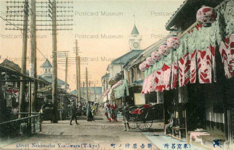 ta940-Street Nakanocho Yoshiwara Tokyo 新吉原仲ノ町 東京名所