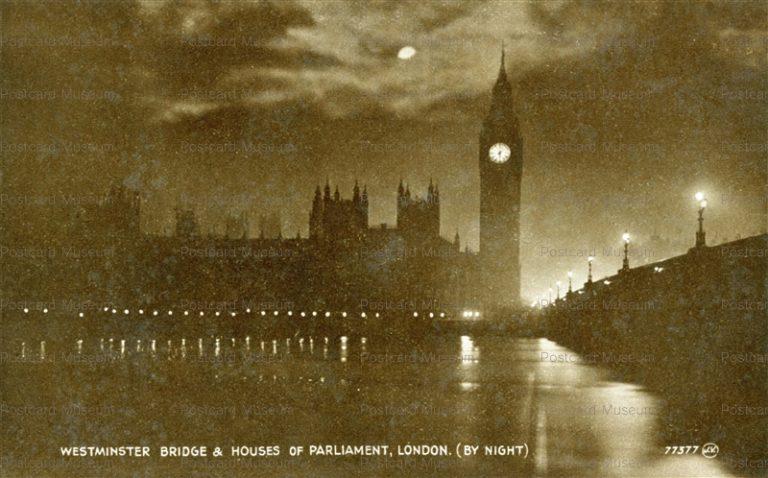 ge055-Westminster Bridge & Houses of Parliament London