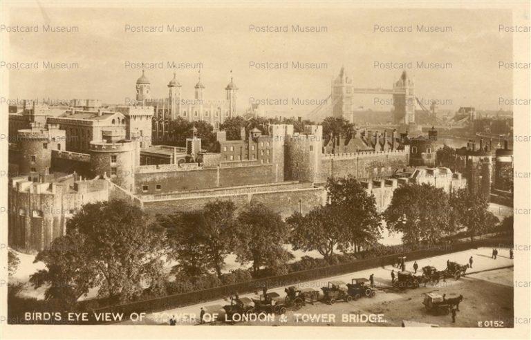 ge190-Bird's Eye View of Tower of London & Tower Bridge