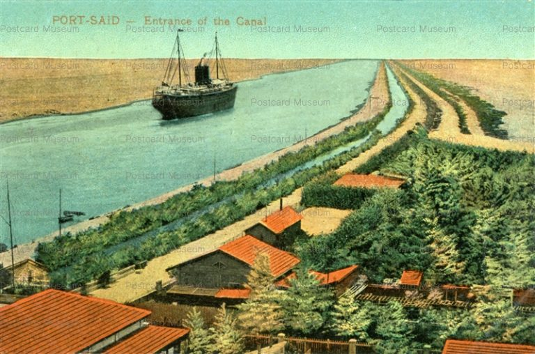 gp165-Port Said Entrance of the Canal