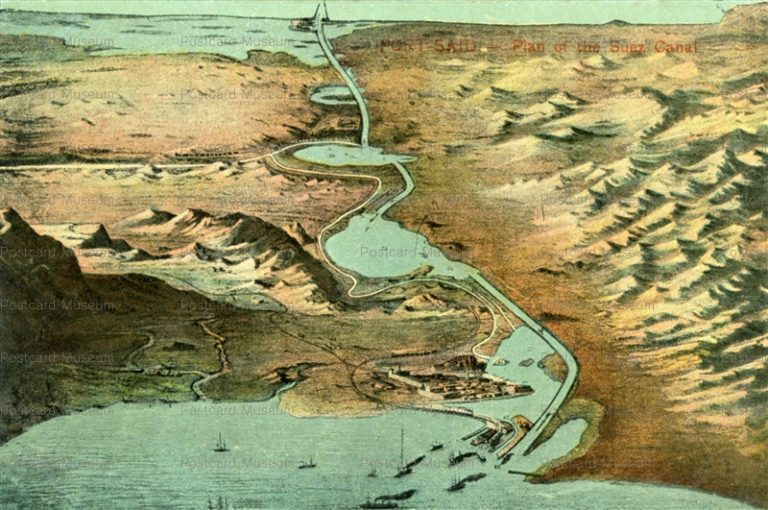 gp168-Port Said Plan of the Suez Canal