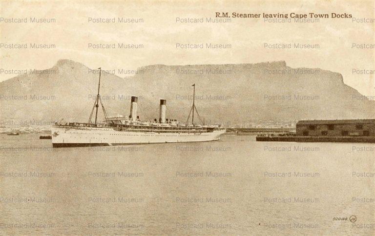 gsa023-R.M. Steamer Leaving Cape Town Docks