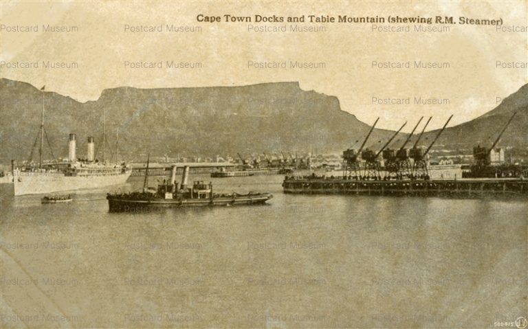 gsa024-Cape Town Docks and Table Mountain