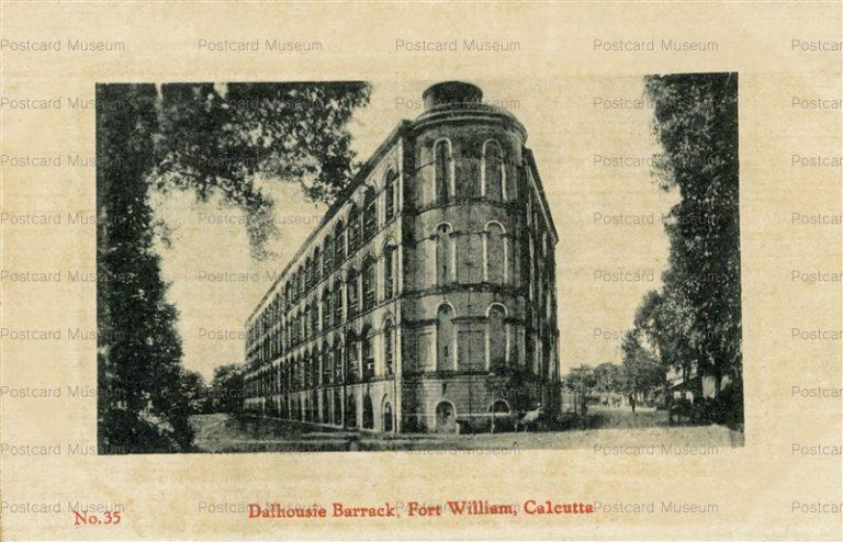 ind026-Dalhousie Barrack Fort William Calcutta