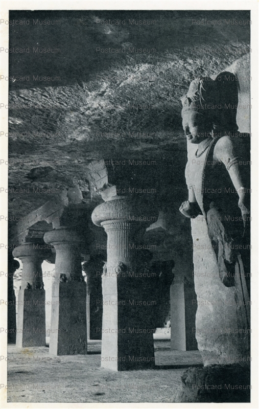 ind507-Elephanta Cave 1 Archaeological Survey of India
