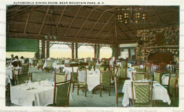 usa060-Automobile Dining Room Bear Mountain Park N.Y.