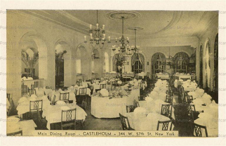 usa070-Main Dining Room at Castleholm Resteraunt in NY